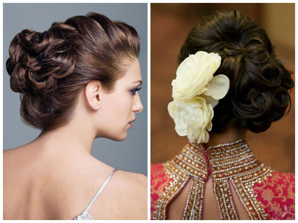 Hairstyle Options For The Bride To Be WedAbout WedAbout - Side bun hairstyle indian