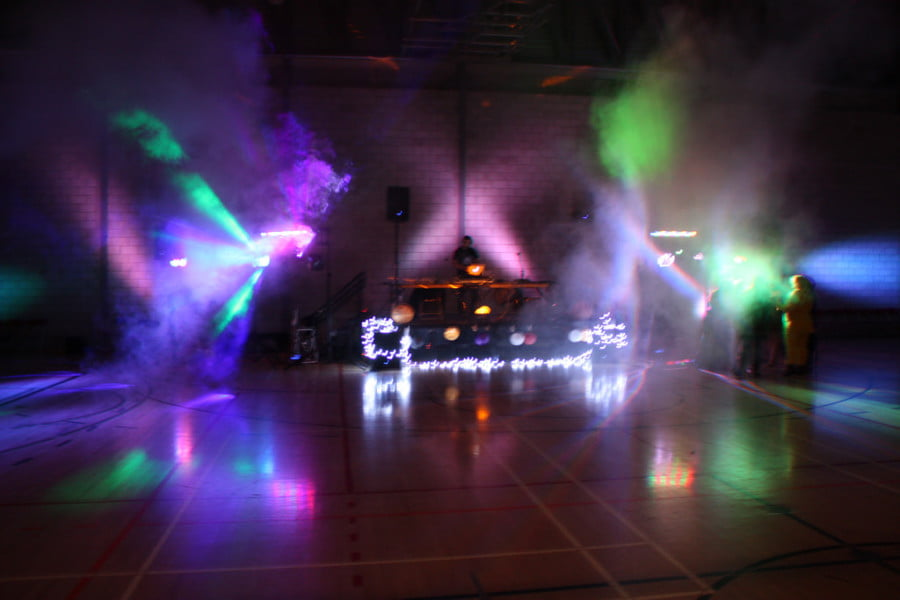 Dance floor décor