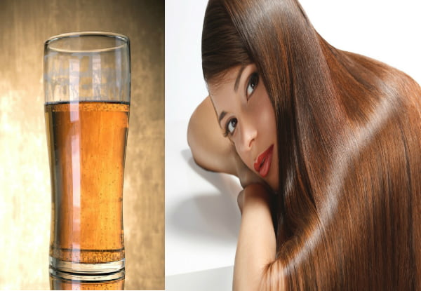 beer hair mask for Glossy hair