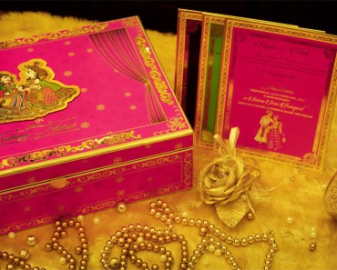 VWI - New Delhi -MADHUBANI-PINKVWI-10073 - #Wedding #card #designer #invitation #card