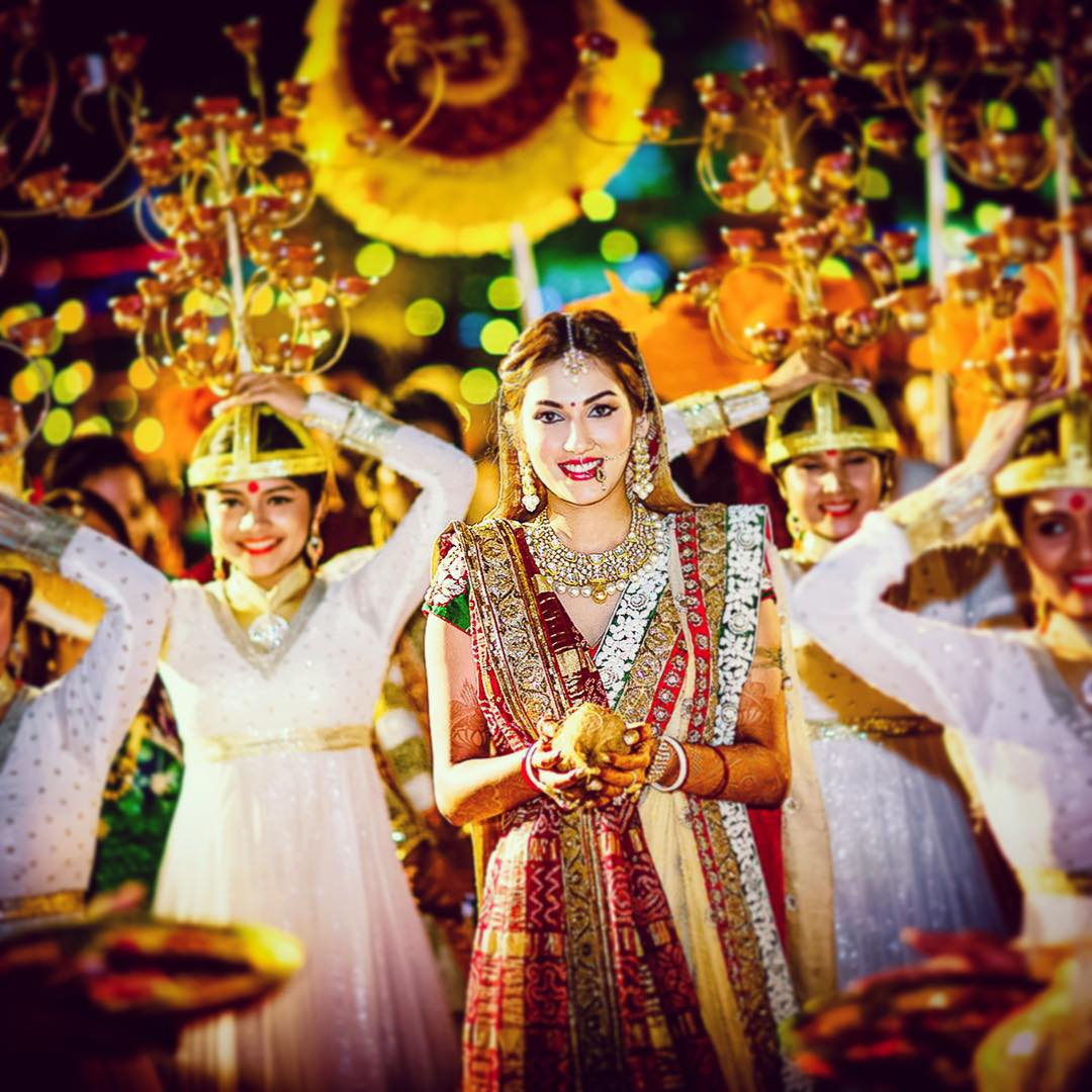 Quirky bride entry