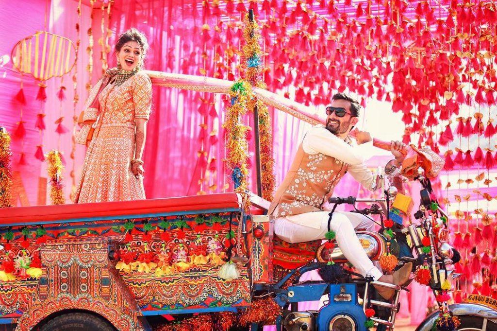 Quirky bride entry ideas