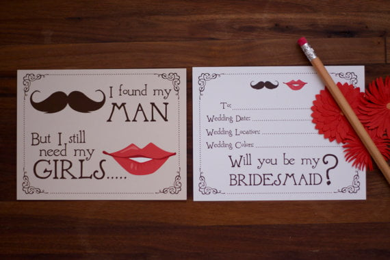 wedding invites definitely need a punch of bridesmaid cards