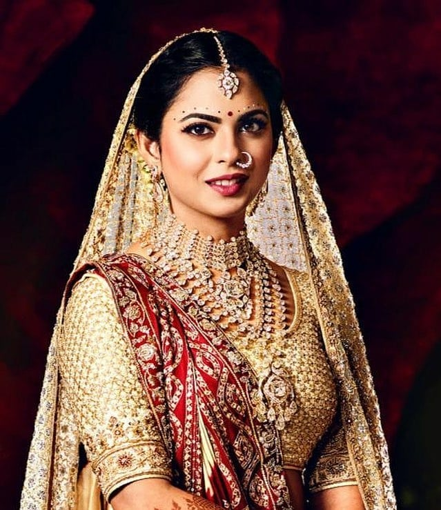 isha ambani's bridal look