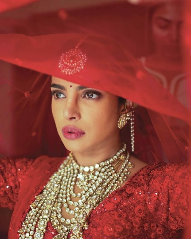 priyanka chopra's bridal look