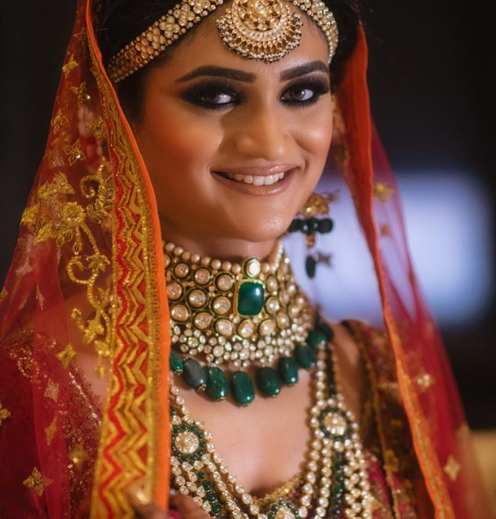 Charcoal eyes, bridal eye makeup
