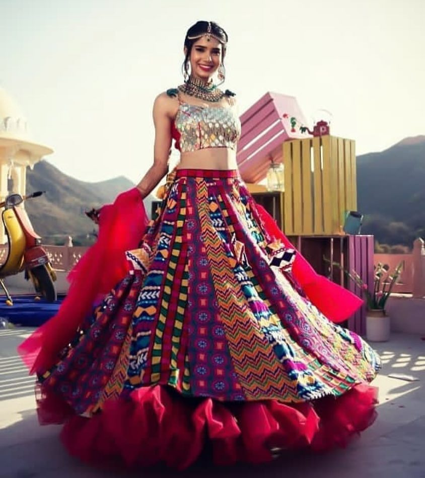 twirling in colourfullehenga