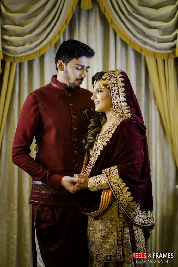 Umrao night ready couple for a abu dhabi wedding in Emirates palace