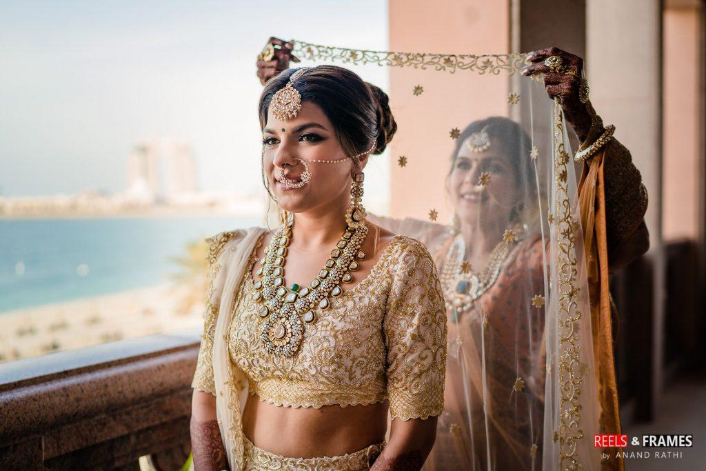 A Kresha Bajaj bride in Abu Dhabi wedding at Emirates Palace