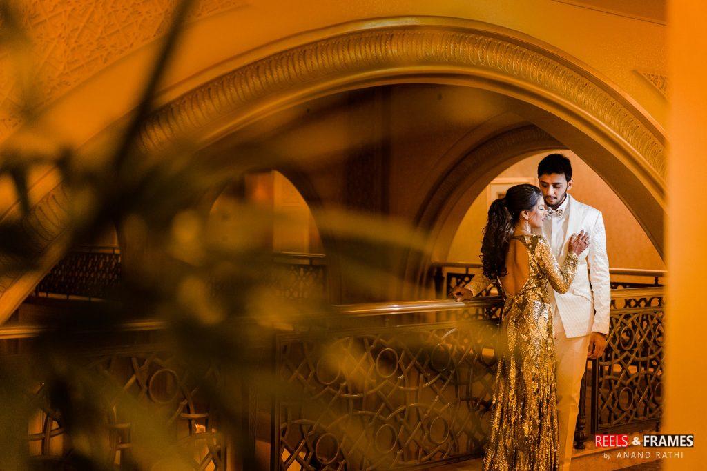 Reception ceremony at Emirates Palace in Abu Dhabi wedding.