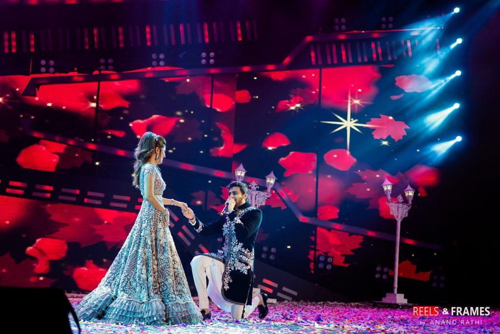 Grand stage set in Abu Dhabi wedding at Emirates Palace.