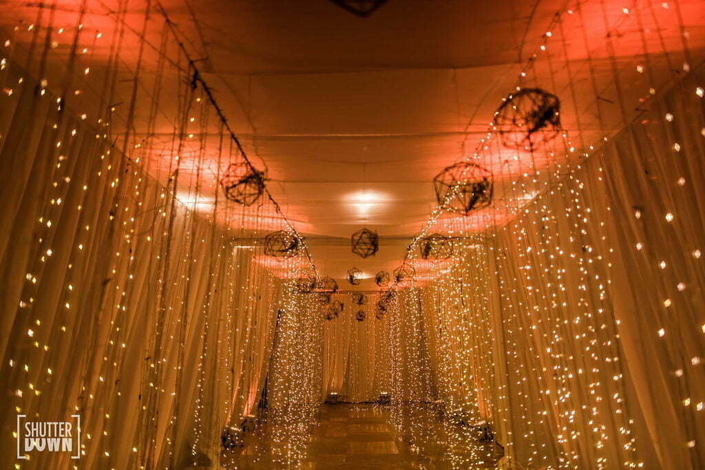 quirky lights and decorations at a bali wedding