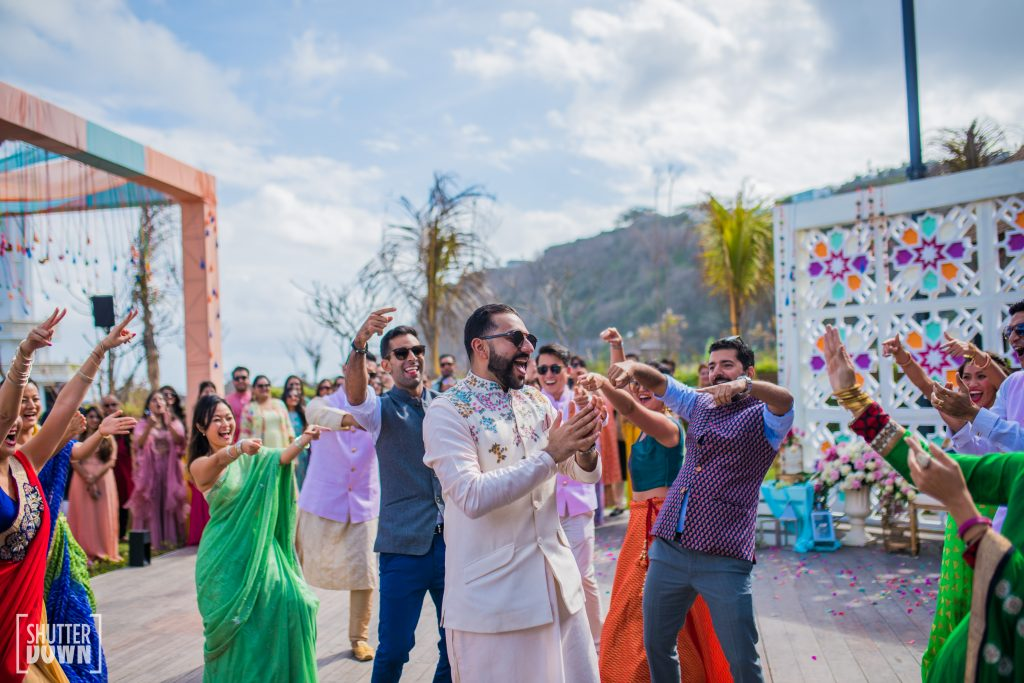 Fun and games at a bali wedding in the bridal mehendi ceremony