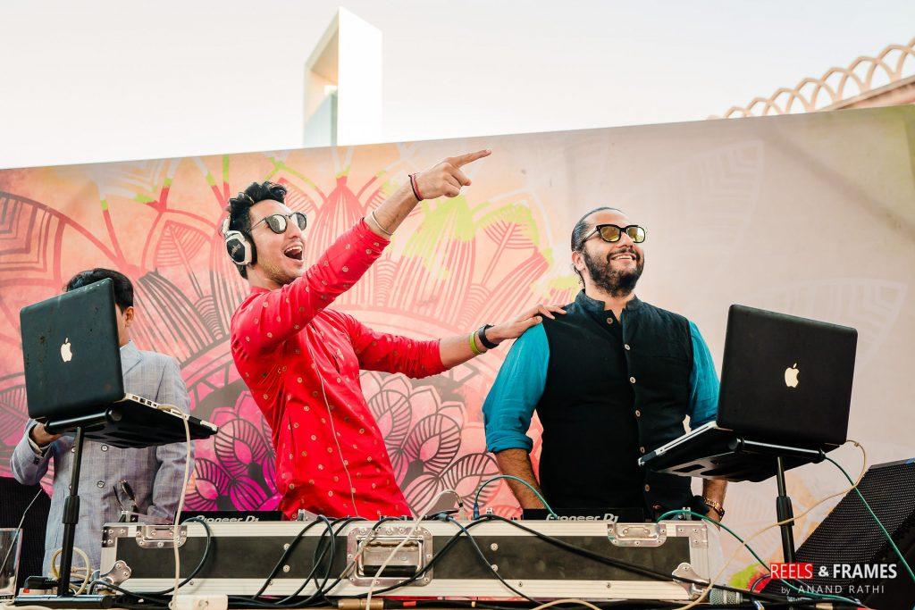 DJ Aman Nagpal at the Mehendi Ceremony at Abu Dhabi wedding