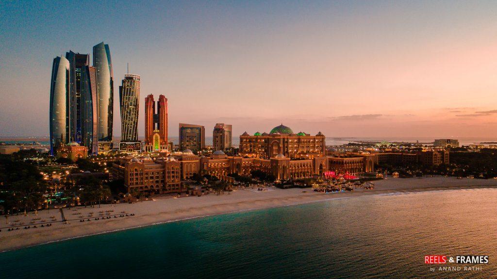 Sea side view of Emirates Palce, Abu Dhabi.