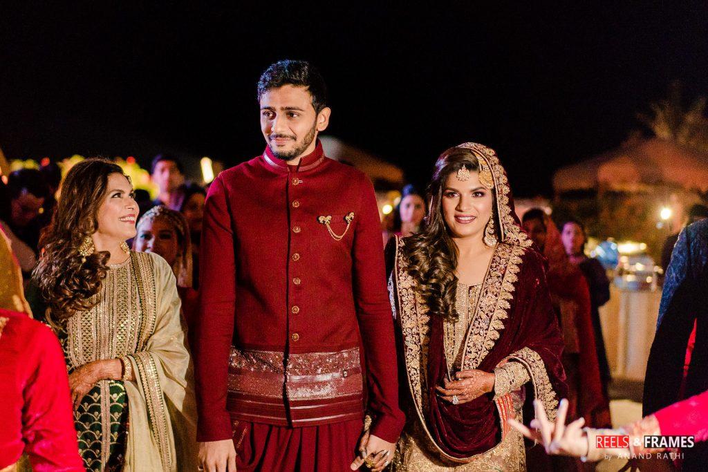 Umro night setup in the backyards of the Emirates Palace at Abu Dhabi wedding