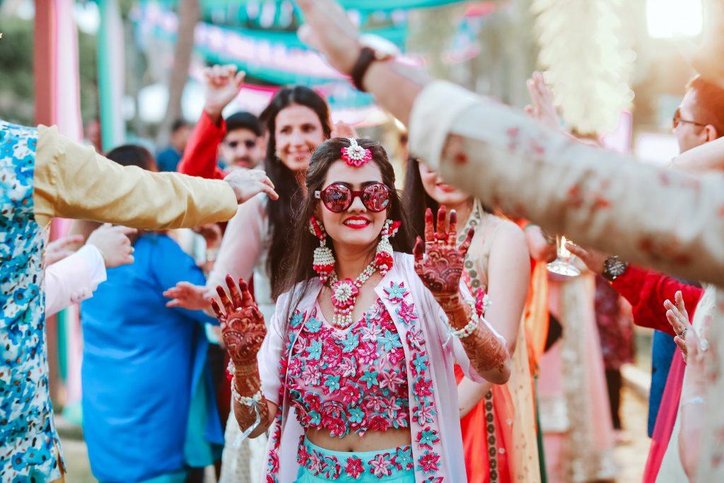 bridal mehendi ceremony of a bride at a wedding in kerala