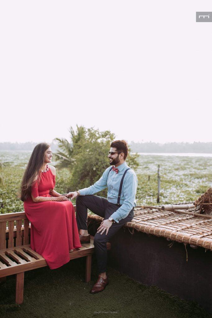 pre wedding photo shoot at a wedding in kerala